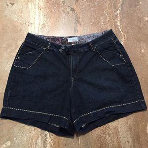 Venezia Pants - EUC Venezia  jean shorts with copper stitching.