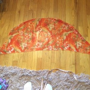 Vintage orange sheer scarf impeccable.