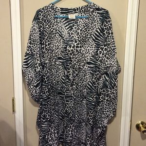 Other - Black, White & Gray Leopard CoverUp
