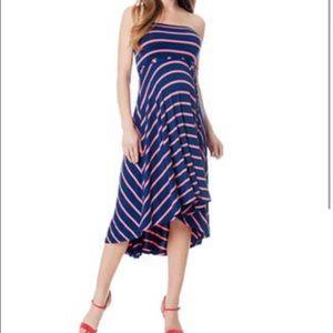 6fdea346bf7 Motherhood Maternity Dresses - Motherhood maternity blue and pink stripes  dress