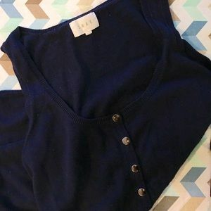 Shae brand knitted tank in navy, size M.