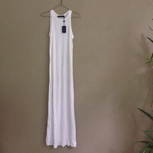 Polo Ralph Lauren white jersey maxi dress Small