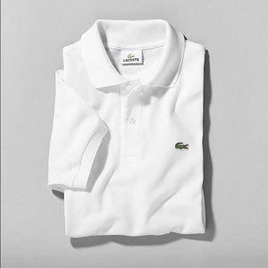 Lacoste Long Sleeve White Polo Shirt