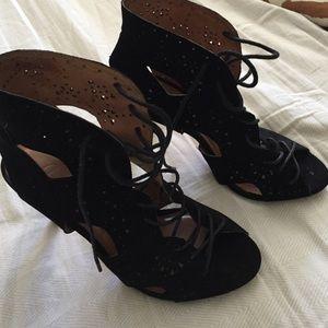 Joie black suede booties