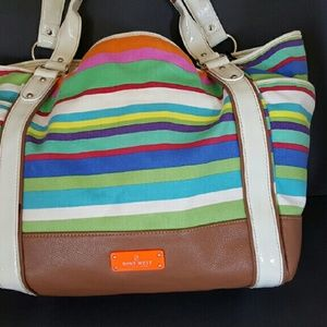 Nine West Multi- Colored Cloth Tote