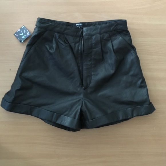 Nasty Gal Pants - Leather Shorts By Nasty Gal