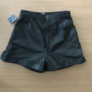 Leather Shorts By Nasty Gal