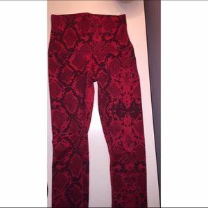 Red Snakeskin Lululemon leggings (full length)