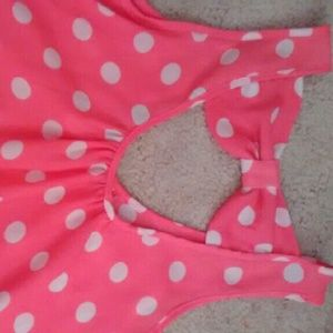 Polka dotted tank top