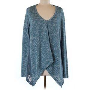 Gypsy 05 Sweaters - Gypsy 05 Teva blue crotchet sweater medium