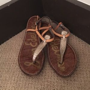 Sam Edelman metallic sandal