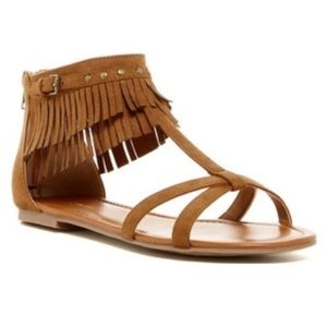 Indigo Rd Boho Chic Brown Fringe Ankle Sandal