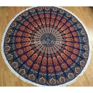 """Unbranded Other - Boho Mandala Throw Yoga Sarong 72"""" Round Fringe"""