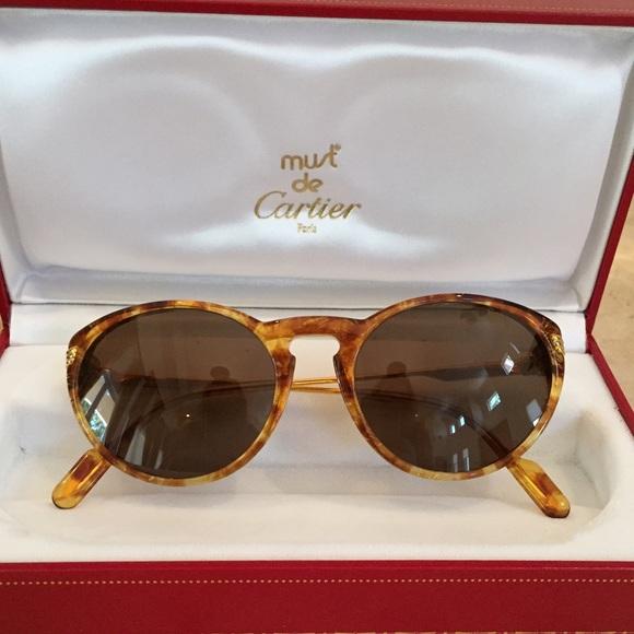49ca505b2778 Cartier Accessories - 😎💛 Cartier Jaspe Miel Dore Sunglasses 😎