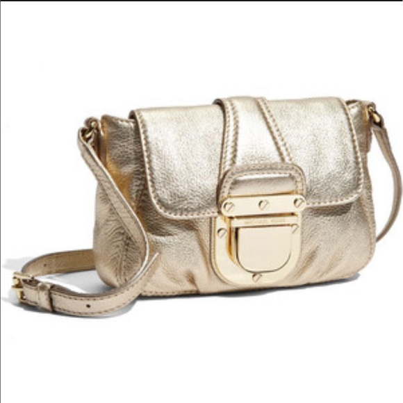 Michael Kors Charlton Crossbody Gold Leather