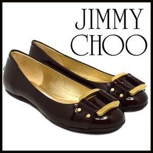 Jimmy Choo Buckle Ballet Flats