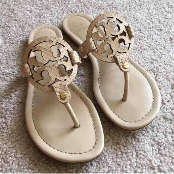 e45fb8052 Tory burch Miller sandals dulce de leche snake 8. M 578d6b8bd14d7b52df00408f