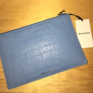 Whistles Handbags - Whistles Small matte croc-embossed clutch - NWT