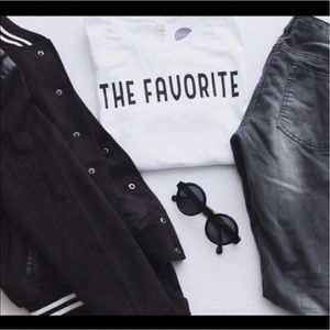 Friday Apparel Tops - The Favorite Graphic Tee in White