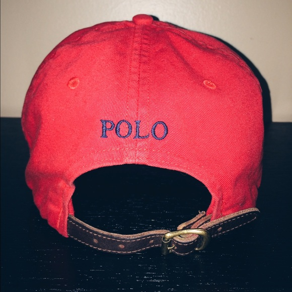 Limited edition Red Polo Brown Leather Strap Hat. M 578d72c9981829646f005036 237f1f9682f