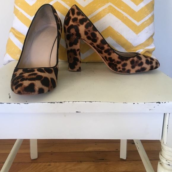 J. Crew Shoes   Animal Print Chunky