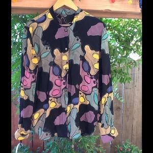 Vintage 90's Artsy blouse oversized