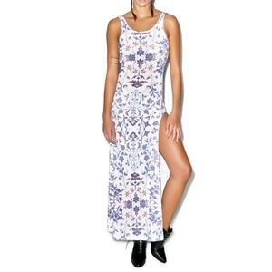 NWT Wildfox American Paisley Maldives Maxi Dress L