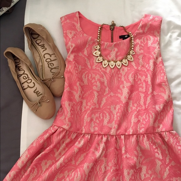 a68194199c1c5 H&M Dresses & Skirts - H&M Sleeveless Lace Party Dress- Pink, Size 6