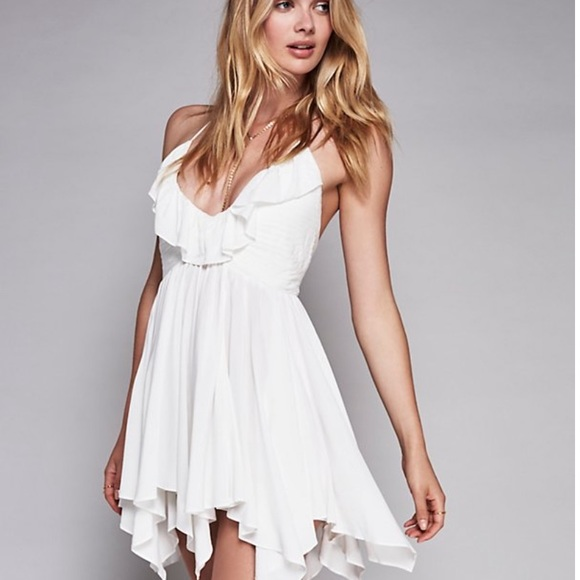 6a178f820c5 Dresses   Skirts - 🆕Solid ruffle fit and flare white flowy dress🆕