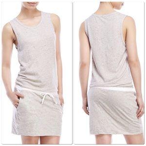 Monrow Dresses & Skirts - MONROW Drawstring Knit Dress - heather grey