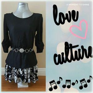 Love Culture Tops - Cute black chiffon top