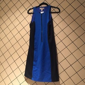 Never worn Michael Kors dress blue & black sheath