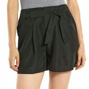Elle Pants - Elle Black Paper Bag Shorts