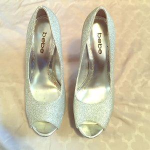 Bebe glitter heels size 6