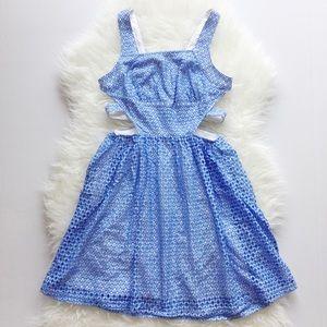 Dresses & Skirts - Baby Blue Cutout Dress