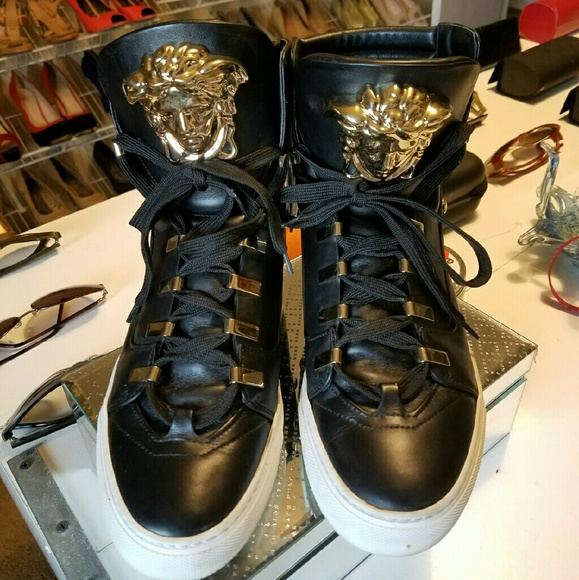 58 versace shoes versace sneakers this season black