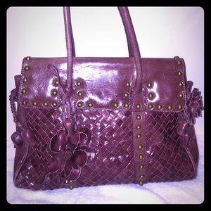 Beverly Feldman Handbags - 💯% Auth.Beverly Feldman Crimson leather bag
