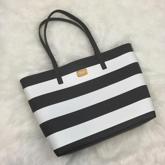 b65aa7960c7116 Michael Kors Bags | 7 Black And White Striped Tote Purse | Poshmark