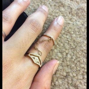 Jewelry - Double ring. Rose Gold. New.