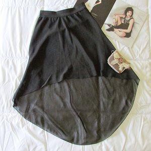 Sabo Skirt Dresses & Skirts - Black High Low Skirt