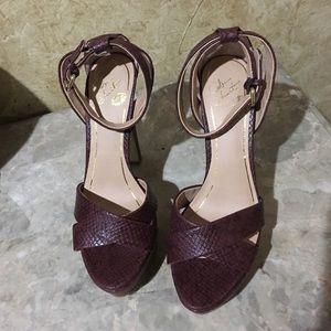 Colin Stuart Shoes - Colin Stuart heels burgundy