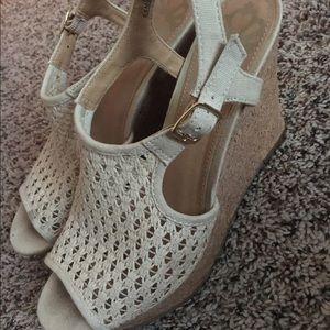 Fergalicious Shoes - Fergalicious Cream 4 inch Wedge heels