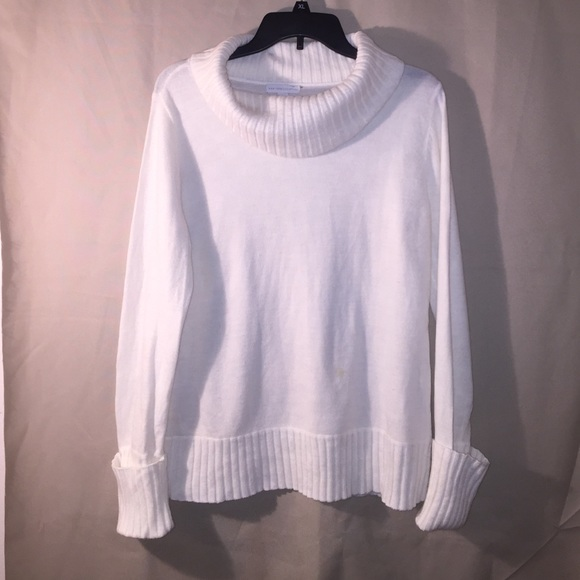 New York & Company - Women's Off White Cowl Neck Sweater-Size L ...