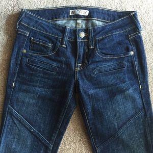 WILDFOX Dark Skinny Jeans