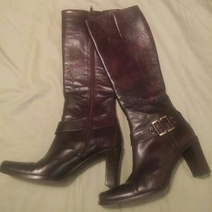 Via Spiga Leather Dark Brown Boots Size 7