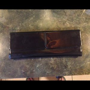 Alfani Handbags - Alfani Patin Leather Clutch