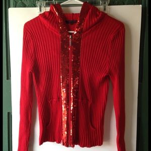 REDUCED--Really Cute Fontana Sequin Hoodie S(4-6)