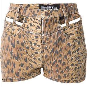 Jeremy Scott Pants - jeremy scott leopard cutout shorts