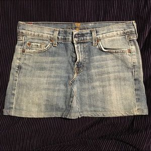 7 For All Mankind Jean Skirt Size 28