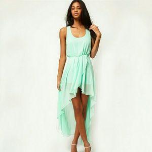 Sale✴️Seafoam green sheer high low dress